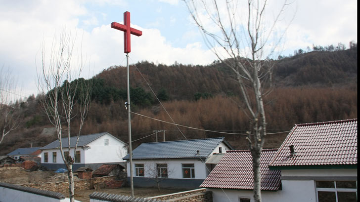 Cross on the roof