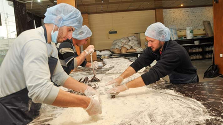 A sweet factory started by Open Doors local partners to provide work for displaced believers in Iraq.
